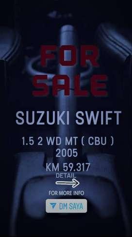 Dijual ! Suzuki Swift 1.5.2 WD.MT-CBU/GT Th.2005 Black Siap Pakai.