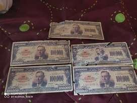 Uang Dollar Kuno 100000 tahun 1934