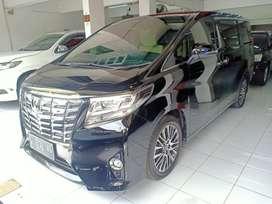Toyota Alphard 2.5 G ATPM 2017 black, odo hanya 28 ribu