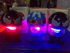 Boneka emoji lampu led dan per goyang.