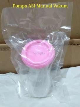 Pompa ASI Manual vakum Silicone breast pump paket vakum dengan tutup