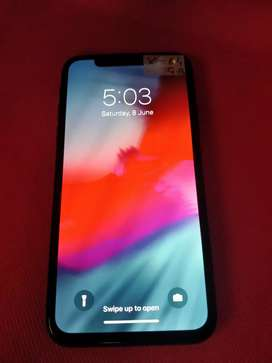 Apple iPhone x black 64 gb with all orignal accs