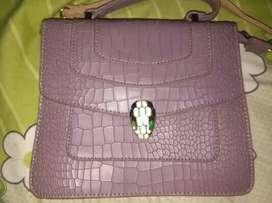 Tas kulit ungu cantik