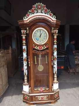 Lemari jam pajangan hongkong  ,kayu jati