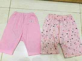 Celana baby pink isi 2 size 3-12bulan