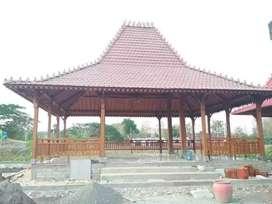 Pendopo Joglo Kayu Jati Tumpangsari Ukir, Rumah Jawa Joglo Gebyok