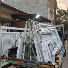 Kusen alumunium untuk pintu,jendela,kanopi,pagar,dll.