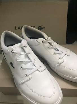 Sepatu lacoste original full white kulit UK 42