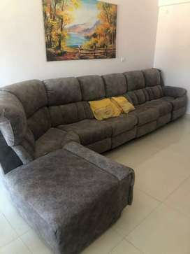 14 Feet by 6 Feet U-Shaped Recliner 8 Seater sofa with soft fabric