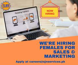 Females Required for Sales and Marketing Urgently for Karachi