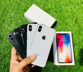 iPhone X - 64 & 256 gB - both color - all 100% full kit