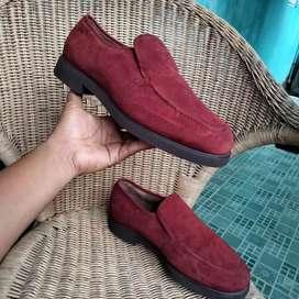 Sepatu kulit asli slip on selop second bekas preloved no.43