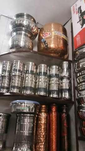 Waterpot (paanee ke bartan) and copper bottles