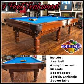 Jual Meja Billiard/ Bilyar/ Pooltable Custom Teakwood/ Mahoni