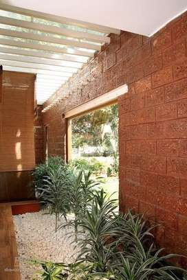 Laterite stone wall cladding tiles