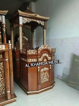 Ready Mimbar Masjid Material Kayu Jati Berkualitas *26