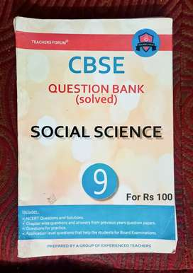 CBSE question bank social science 9th standard