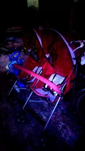 Stroller pliko khusus kembar