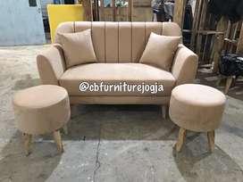 custom stool bulat dan Sofa sandaran garis