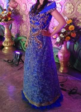 Royal blue coloured gown