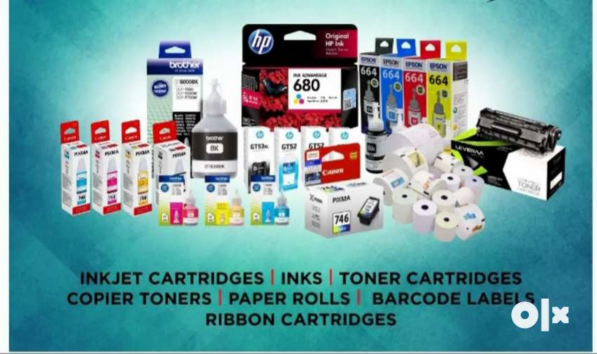 Hp, Canon, Epson, Brother cartridges and printers