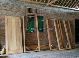 Pintu, kusen, jendela, kayu jati.. Boven loster dll