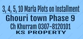 25X50 5Marla Plot for sale in Ghouri town JS Block and Phase 9