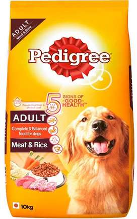 Pedigree meat and rice