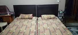 Two Single Beds without Mattresses