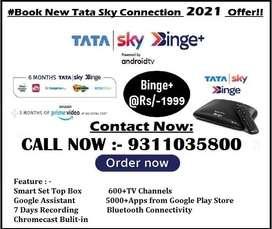 TATA SKY BINGE PLUS ANDROID BOX WITH 4K QULITY