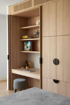 Lemari pakaian/wardrobe kombinasi meja belajar,meja kerja / meja rias