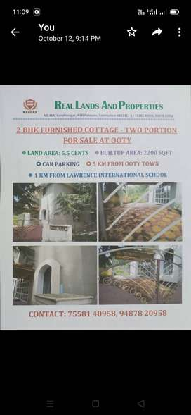 2bhk furnished villa for sale at Ooty
