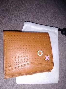 Dompet ORIGINAL FOSSIL mini wallet Caroline Bifold Brown Multifunction