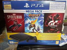 PS 4 Slim indian 1tb with 5 games