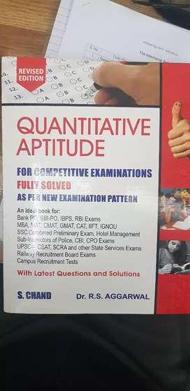 Quantitative Aptitude by Dr R S Aggarwal (Latest Edition)