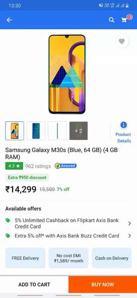 Samsung m30s only 2 month old