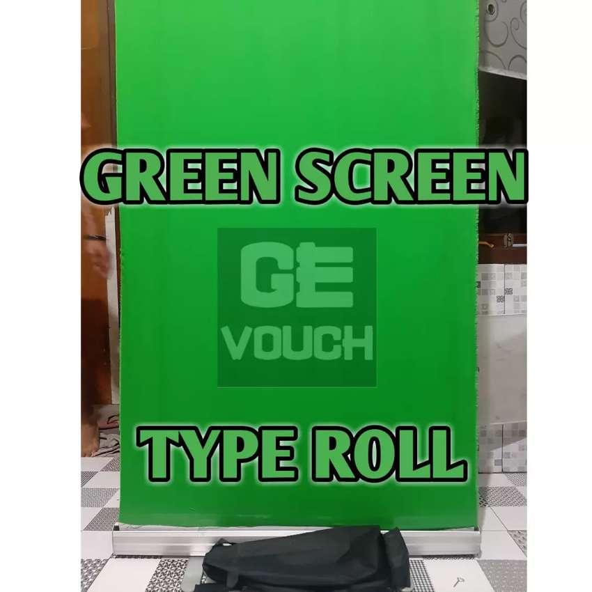 BackDrop GREEN SCREEN Type ROLL.. Uk 85cm x 200cm 0