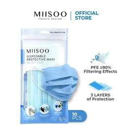 Masker Wajah 3 Ply DisposableMISOO/ Pack Masker Kesehatan 3ply
