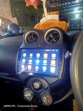 Autoworks exotic//terpasang head unit android Nissan march +frame