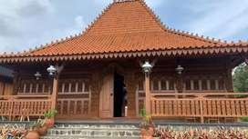 Rumah Jawa Joglo Gebyok Ukiran, Rumah Limasan Kayu jati Sokoguru20cm