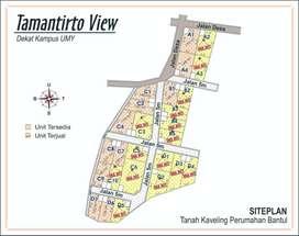 Tanah Cocok Untuk Kost, Area Kampus UMY Bantul Sleman