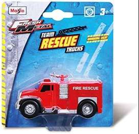 Maisto Rescue Fire Truck and Dirt Demons Jeep Diecast Models