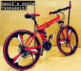 Hanif's folding cycle 21 gear mac wheel free accessories