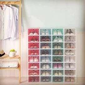 Box / Kotak Sepatu Lipat Transparan IDR 75.000/3 buah