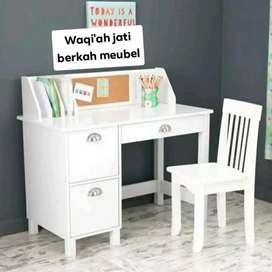 (Meja Belajar Waqi'ah) meja belajar anak minimalis modern, P. 120cm