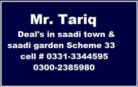 400 yards west open 60 feet road plot block-2, saadi garden