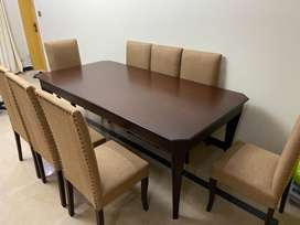 8 Seater solid wood table and chairs