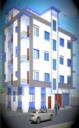 Flat for sale 1st floor 117sqy/1050 sqf. 55 lac