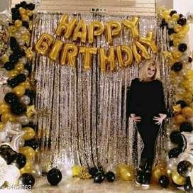 Happy Birthday balloons with 30 metallic balloons