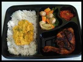 Nasi Box Ayam Bakar,Capcay,Sambal